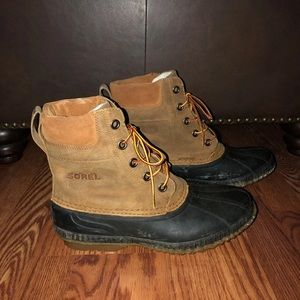 Sorel Leather and Waterproof Duck Boots